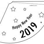 Cappello di carta fai da te Capodanno 2019
