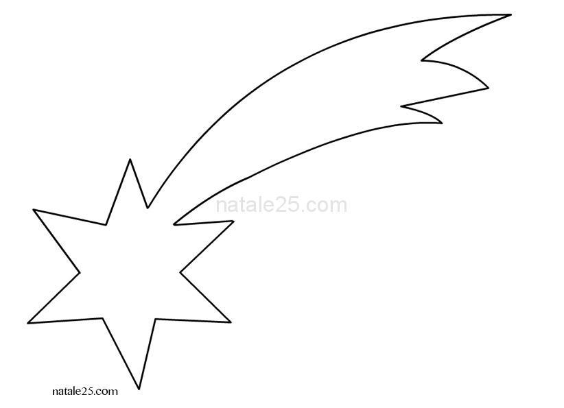 Disegnare Una Stella Di Natale.Stella Cometa Da Colorare Natale 25