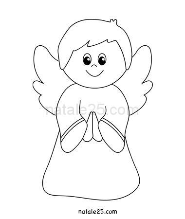 Angelo Che Prega Da Colorare Natale 25
