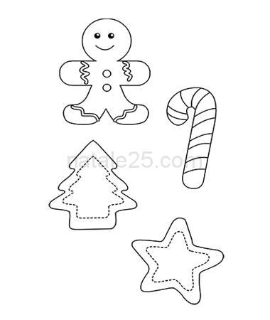 Disegni Natale.Disegni Natale Per Decorazioni In Feltro Natale 25