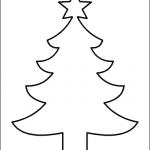 Sagoma albero di Natale da ritagliare