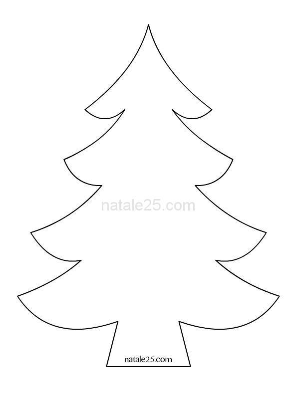 Alberi Di Natale Stilizzati Immagini.Sagoma Albero Di Natale Natale 25