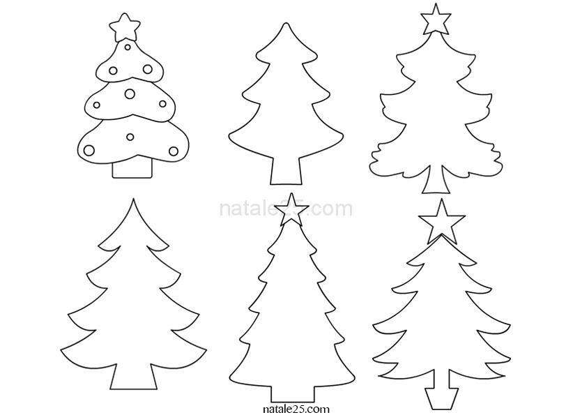Albero Di Natale Disegno Da Colorare.Alberelli Di Natale Da Colorare Natale 25