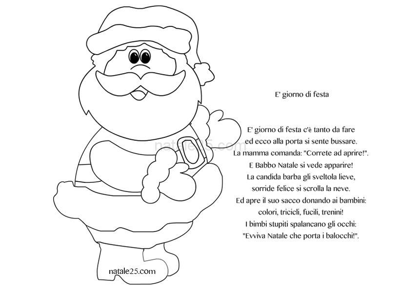 Filastrocca Di Babbo Natale.Filastrocche Natale E Giorno Di Festa Natale 25