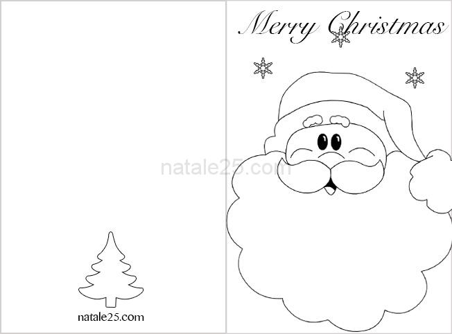 Biglietti Da Colorare Di Natale.Biglietti Di Natale In Inglese Babbo Natale Natale 25