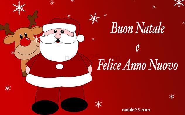 Cartoline Buon Natale E Felice Anno Nuovo.Cartolina Buon Natale E Felice Anno Nuovo Natale 25