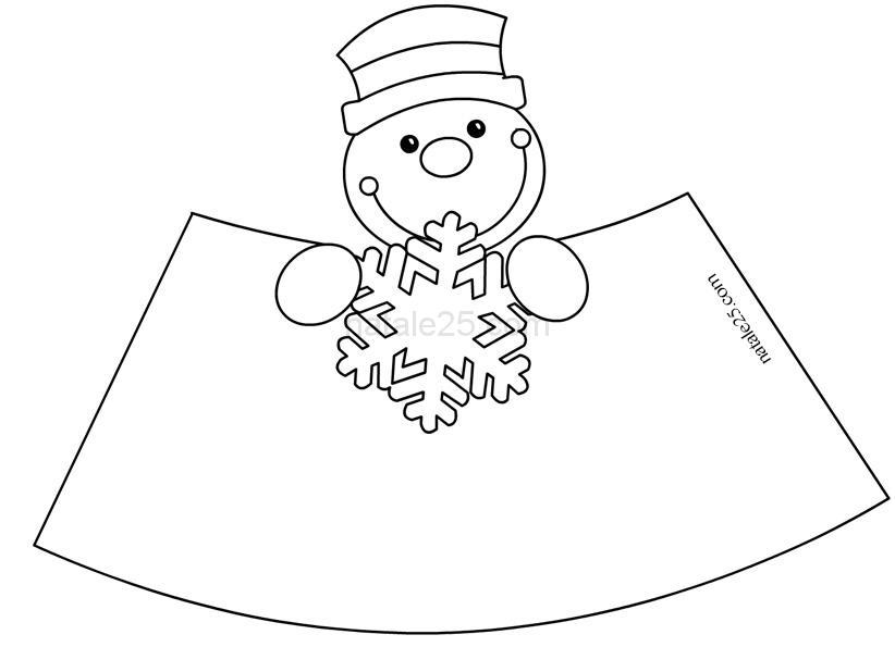 Pupazzo Di Neve In 3d Natale 25