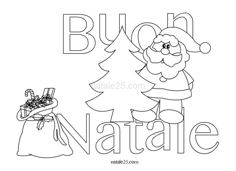 Buon Natale Disegni.Scritta Buon Natale Da Colorare Natale 25