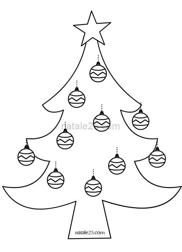 Disegni Di Palline Di Natale Da Stampare E Colorare.Albero Con Palline Di Natale Natale 25