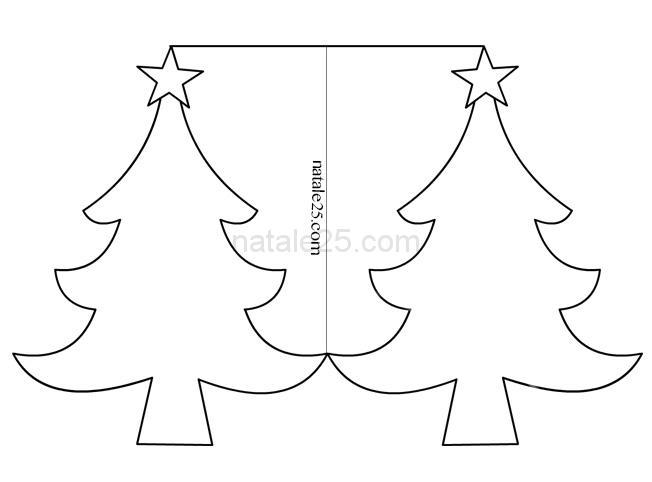 Biglietti Da Colorare Di Natale.Biglietto Albero Di Natale Da Colorare Natale 25