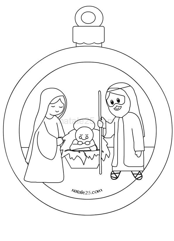 Addobbi Di Natale Da Colorare E Ritagliare Natale 25