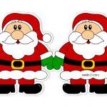 Festone con Babbo Natale per addobbi natalizi