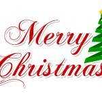 Scritta Merry Christmas da ritagliare