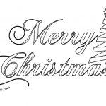 Scritta Merry Christmas da colorare