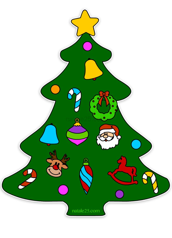 Alberello Natale.Albero Di Natale Da Ritagliare Per Addobbi Finestre Natale 25