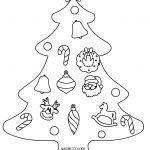 Disegno albero natalizio con decorazioni