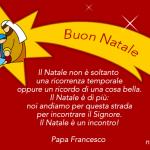 Auguri di Buon Natale con frase di Papa Francesco