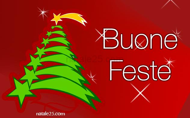 Alberi Di Natale Per Auguri.Auguri Di Buone Feste Con Albero Di Natale Natale 25