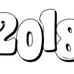 Numero 2018 da colorare