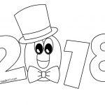 Anno 2018 Disegno da colorare