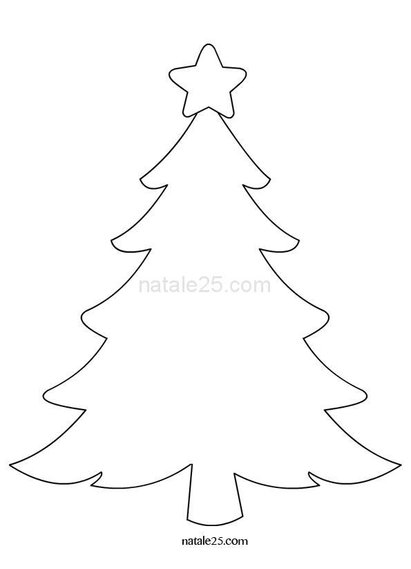 Albero Di Natale Da Colorare E Stampare.Albero Di Natale Con Stella Da Colorare Natale 25