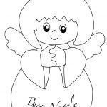 Disegno di angelo con scritta Buon Natale