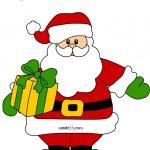 Simpatico Babbo Natale con pacco regalo