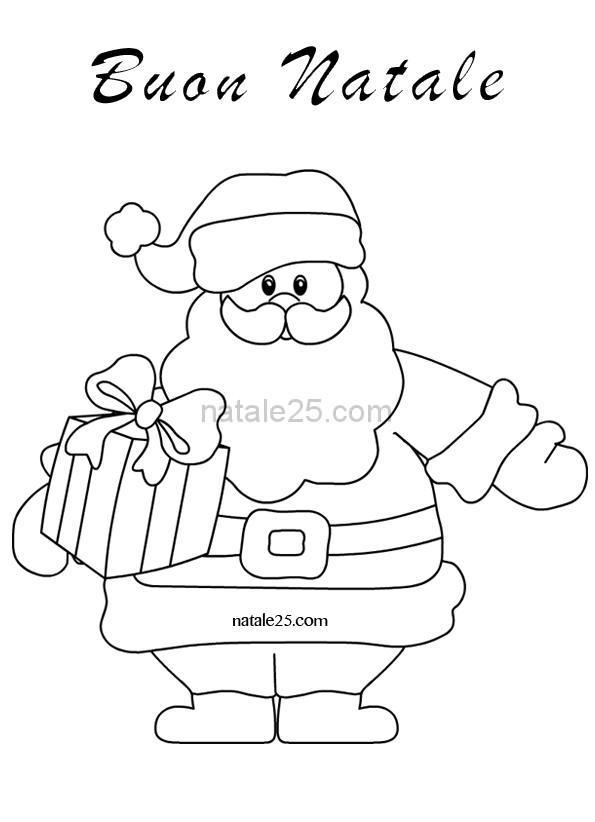 Disegni Di Natale Da Colorare Babbo Natale Con Pacco Natale 25