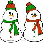 Pupazzi di neve di carta da appendere in aula