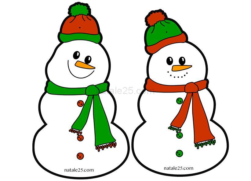 Pupazzi Di Neve Di Carta Da Appendere In Aula Natale 25