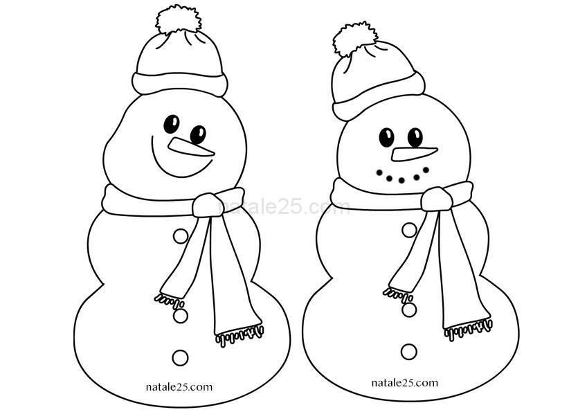 Pupazzi Di Neve Di Carta Da Appendere Natale 25