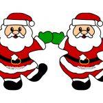 Festone di Natale per porte e finestre con Babbo Natale
