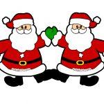 Decorazioni Natalizie Scuola Festone con Babbo Natale