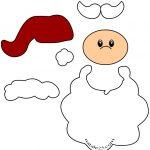 Sagome Babbo Natale di carta