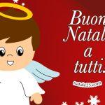 Auguri di Buon Natale Cartolina con angelo