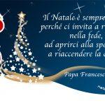 Auguri di Natale con frase di Papa Francesco