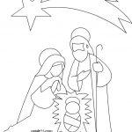 Disegno Santa Famiglia da stampare