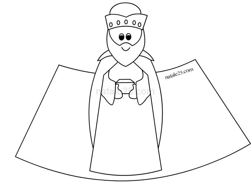 Presepe Di Carta In 3d Re Magio 2 Natale 25
