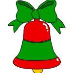 Campana di Natale da ritagliare