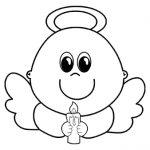 Piccolo angelo con candela