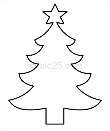 Albero Di Natale Da Colorare E Stampare.Sagoma Albero Di Natale Da Ritagliare Natale 25