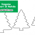Sagome alberi di Natale