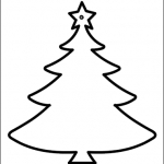 Albero di Natale sagoma da stampare