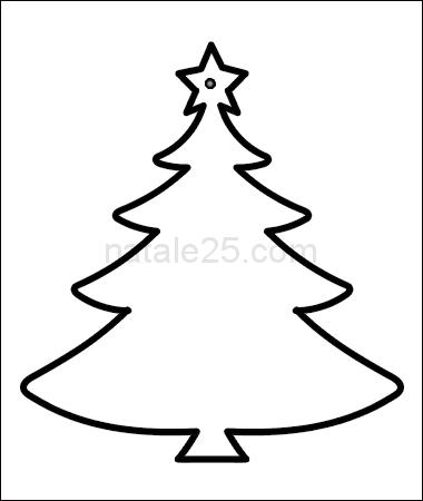 Albero Di Natale Da Colorare E Stampare.Albero Di Natale Sagoma Da Stampare Natale 25