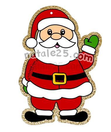 Decorazione Con Babbo Natale Per Bambini Natale 25