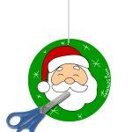 Decorazione con Babbo Natale da ritagliare