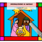 Decorazione Natalizia con Natività