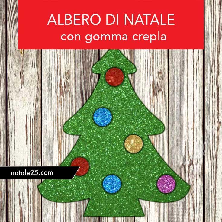 Alberelli Di Natale Lavoretti.Albero Di Natale Con Gomma Crepla Natale 25