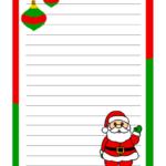 Lettera di Babbo Natale a colori