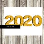 Numero 2020 oro glitter pdf
